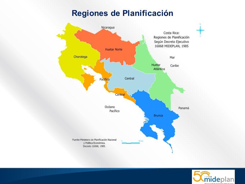 Ante el escenario de contrastes en niveles de desarrollo en las regiones y comprometidos con un modelo de desarrollo solidario, sostenible e inclusivo, el Gobierno de la República ha asumido el reto de retomar y reposicionar la planificación regional y local y a MIDEPLAN como institución coordinadora y de dirección del proceso.