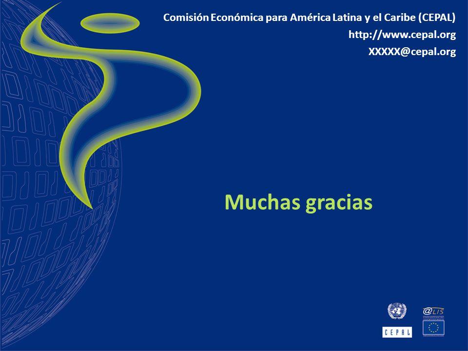 Muchas gracias Comisión Económica para América Latina y el Caribe (CEPAL) http://www.cepal.org XXXXX@cepal.org