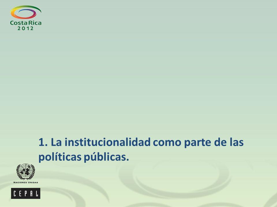 1. La institucionalidad como parte de las políticas públicas.