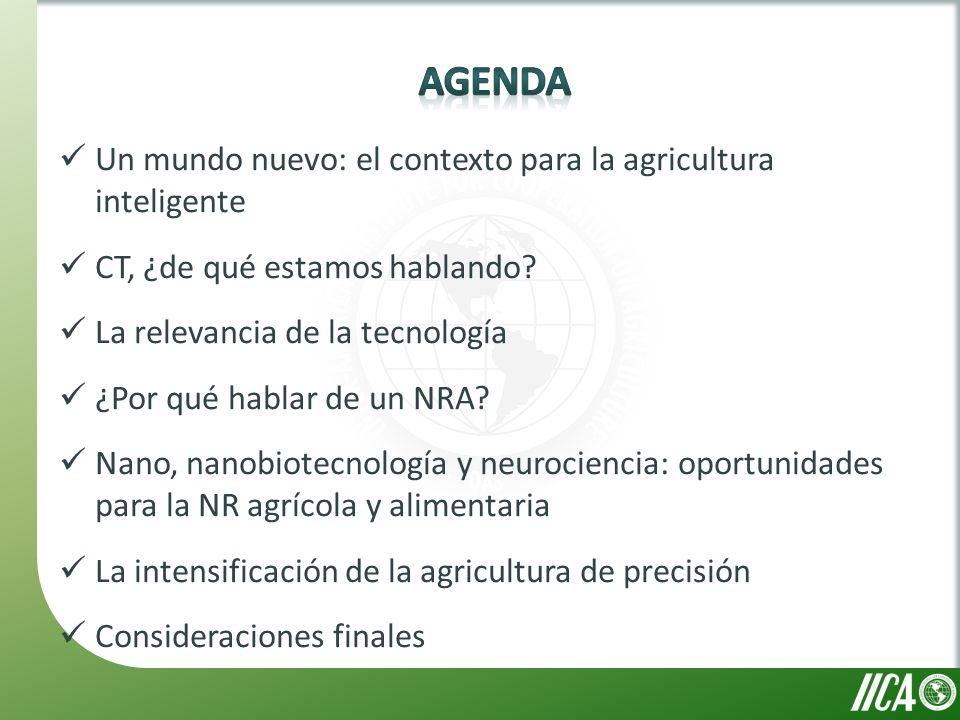 Un mundo nuevo: el contexto para la agricultura inteligente CT, ¿de qué estamos hablando.