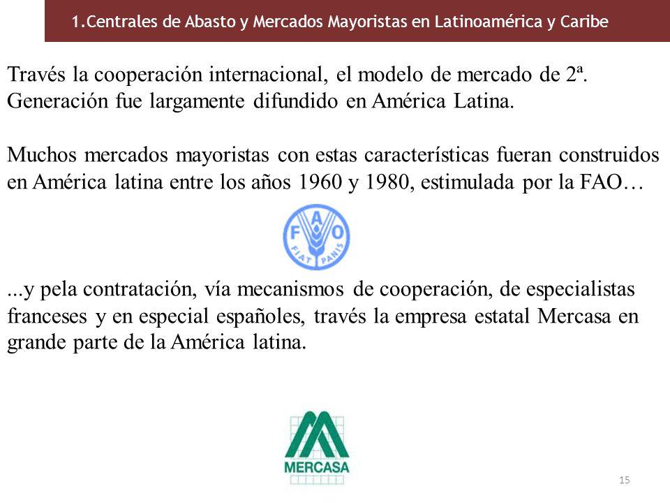 15 Través la cooperación internacional, el modelo de mercado de 2ª. Generación fue largamente difundido en América Latina. Muchos mercados mayoristas