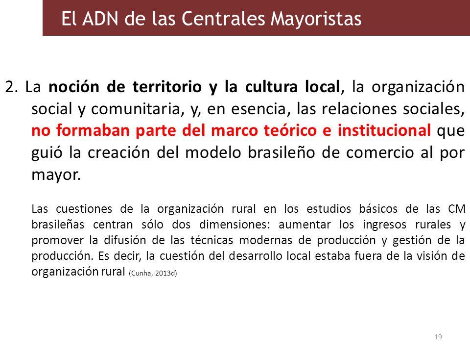 2. La noción de territorio y la cultura local, la organización social y comunitaria, y, en esencia, las relaciones sociales, no formaban parte del mar