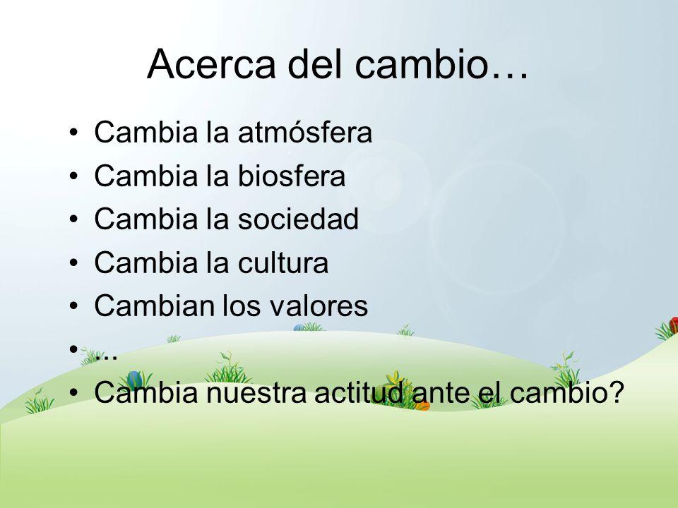 Objeto y Sujeto del CC El clima La agricultura La industria La logística El consumo La biosfera El planeta Aspectos.