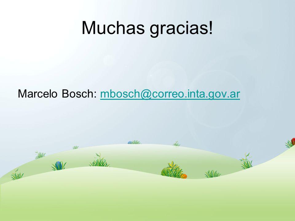Muchas gracias! Marcelo Bosch: mbosch@correo.inta.gov.armbosch@correo.inta.gov.ar