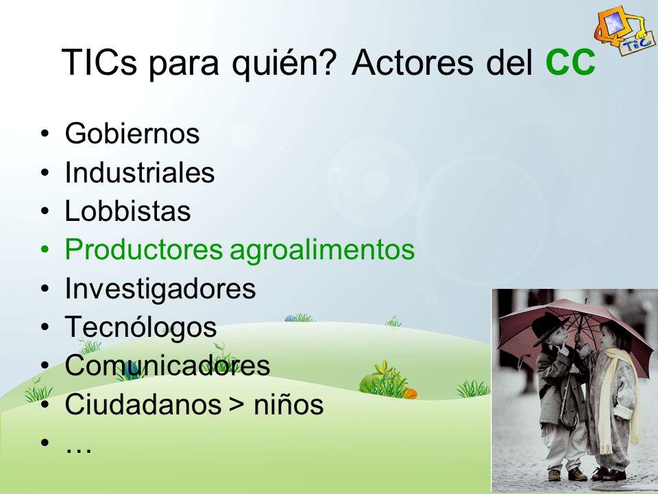 Construyendo el Enfoque AgroBoTICa y CC Nacional / Regional.