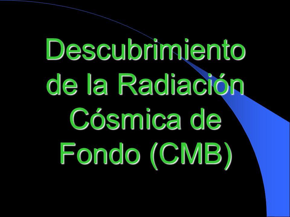 Descubrimiento de la Radiación Cósmica de Fondo (CMB)