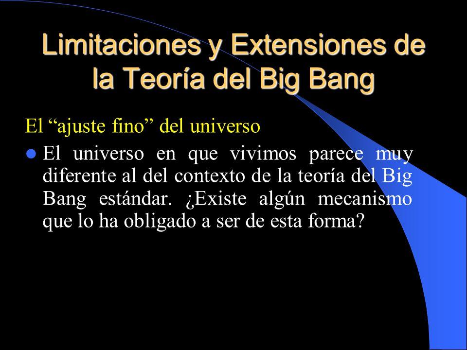 El ajuste fino del universo El universo en que vivimos parece muy diferente al del contexto de la teoría del Big Bang estándar. ¿Existe algún mecanism