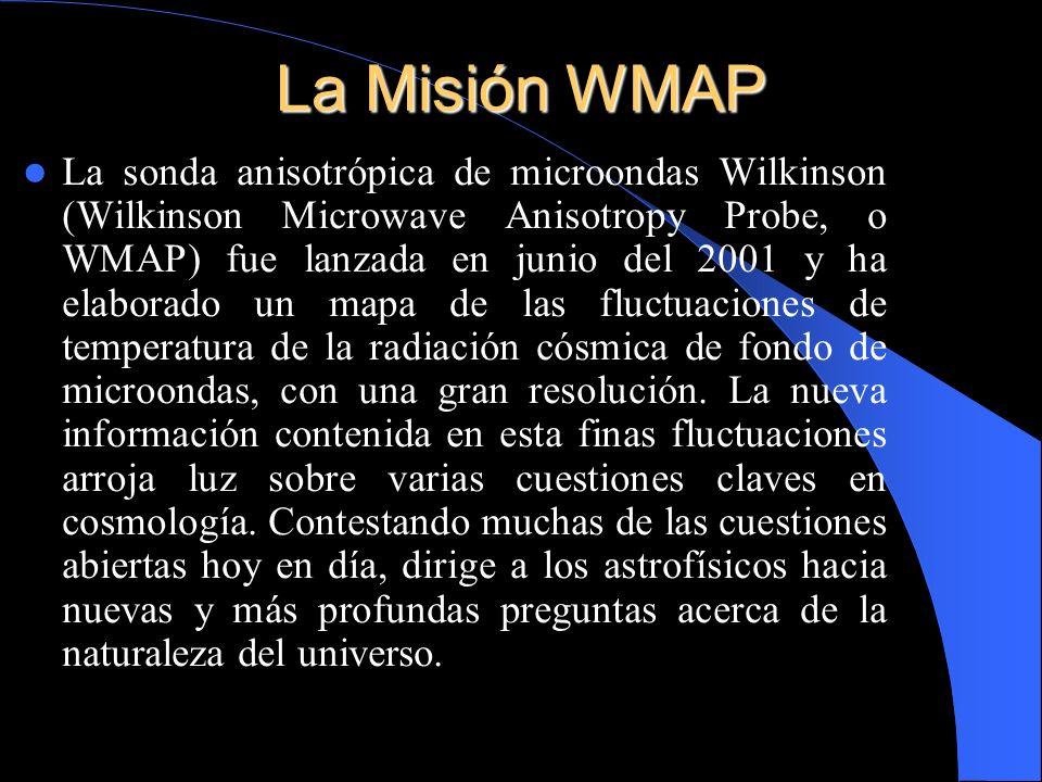 La sonda anisotrópica de microondas Wilkinson (Wilkinson Microwave Anisotropy Probe, o WMAP) fue lanzada en junio del 2001 y ha elaborado un mapa de l