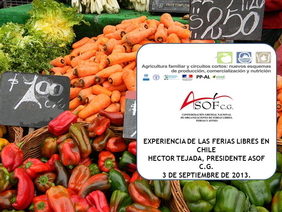 EXPERIENCIA DE LAS FERIAS LIB RES EXPERIENCIA DE LAS FERIAS LIBRES EN CHILE HECTOR TEJADA, PRESIDENTE ASOF C.G.