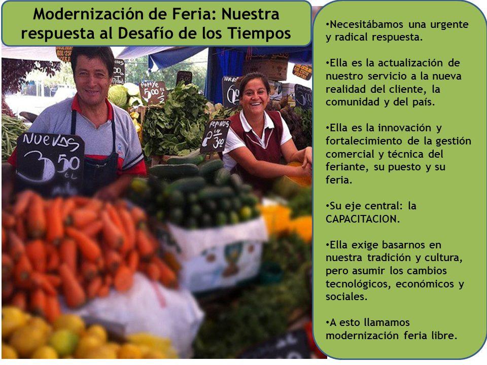 Modernización de Feria: Nuestra respuesta al Desafío de los Tiempos Necesitábamos una urgente y radical respuesta.