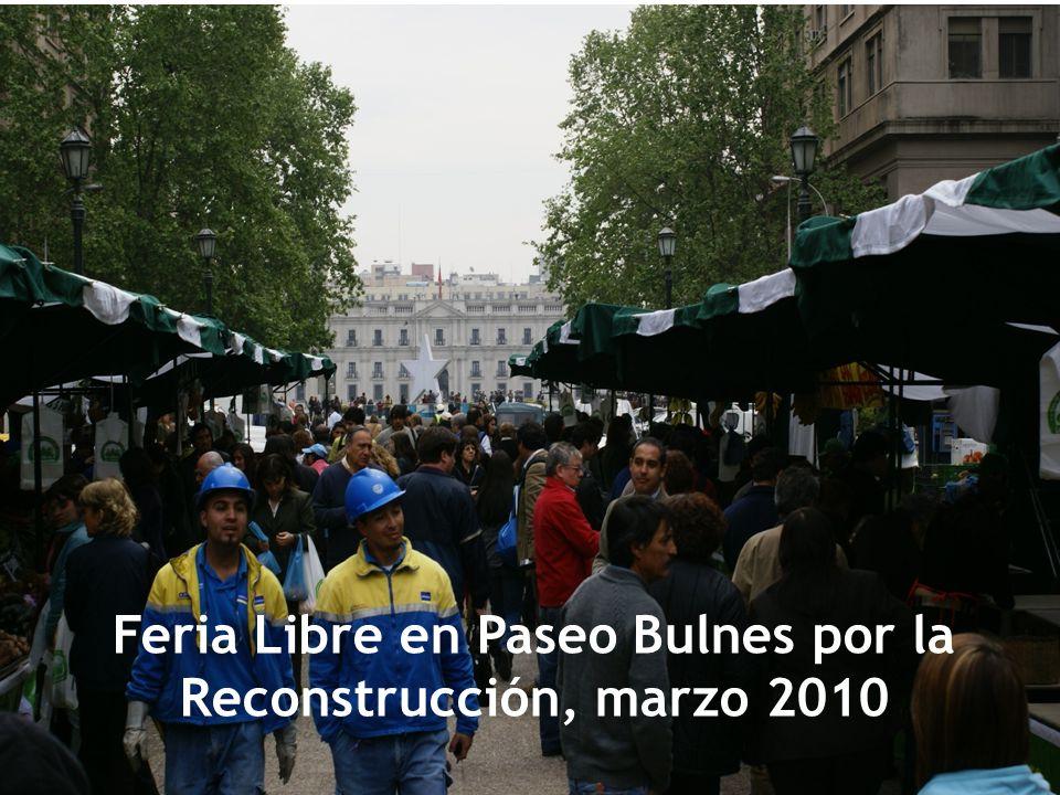 Feria Libre en Paseo Bulnes por la Reconstrucción, marzo 2010