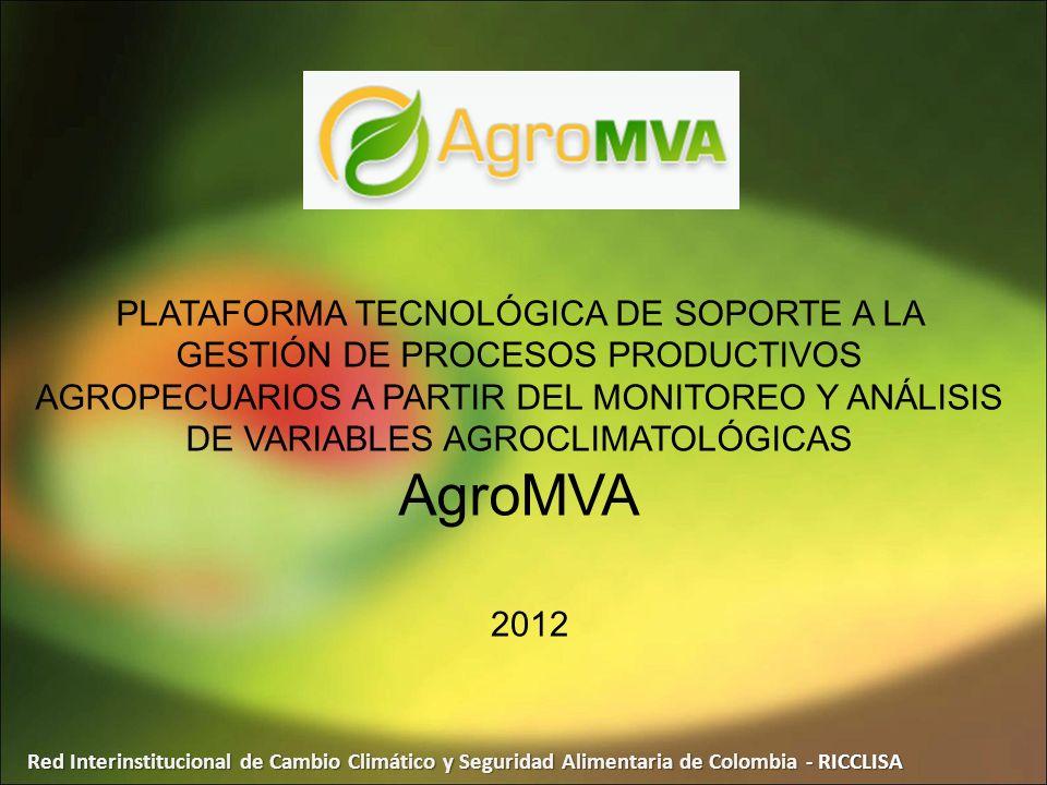 PLATAFORMA TECNOLÓGICA DE SOPORTE A LA GESTIÓN DE PROCESOS PRODUCTIVOS AGROPECUARIOS A PARTIR DEL MONITOREO Y ANÁLISIS DE VARIABLES AGROCLIMATOLÓGICAS