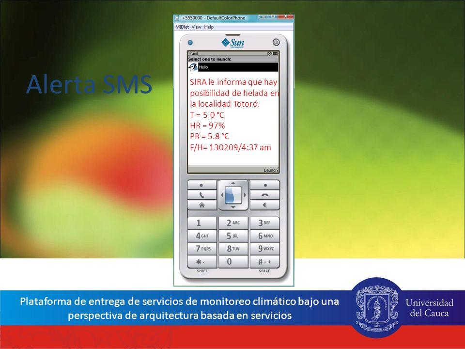 Red Interinstitucional de Cambio Climático y Seguridad Alimentaria de Colombia - RICCLISA Plataforma de entrega de servicios de monitoreo climático ba