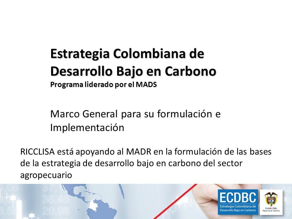 Red Interinstitucional de Cambio Climático y Seguridad Alimentaria de Colombia - RICCLISA 22 Estrategia Colombiana de Desarrollo Bajo en Carbono Progr