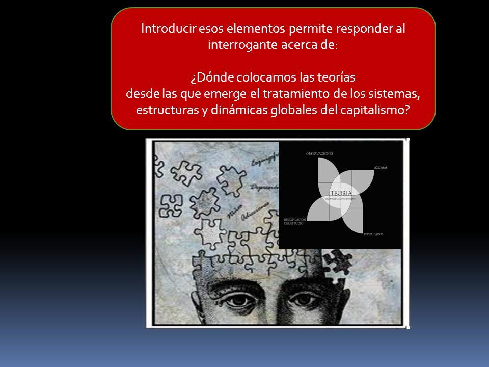 Introducir esos elementos permite responder al interrogante acerca de: ¿Dónde colocamos las teorías desde las que emerge el tratamiento de los sistema