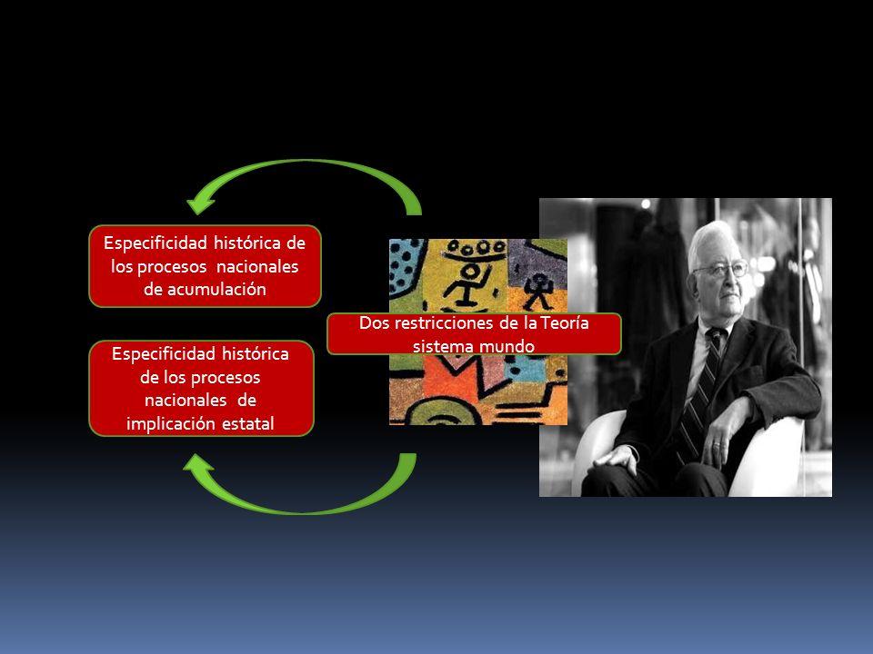 Dos restricciones de la Teoría sistema mundo Especificidad histórica de los procesos nacionales de acumulación Especificidad histórica de los procesos