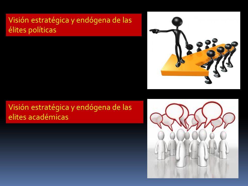 Visión estratégica y endógena de las élites políticas Visión estratégica y endógena de las elites académicas