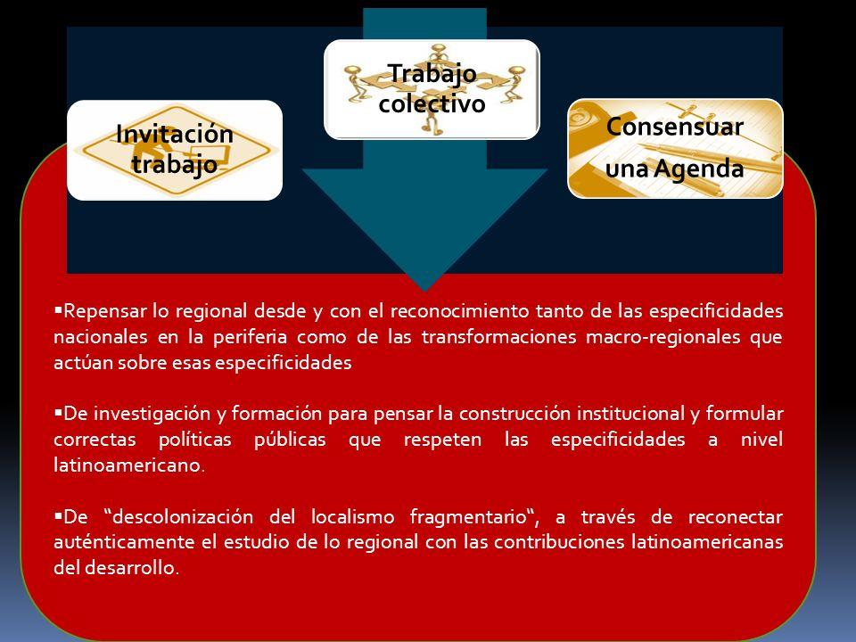 Modelo de articulación con Luz al final del tunel Repensar lo regional desde y con el reconocimiento tanto de las especificidades nacionales en la per