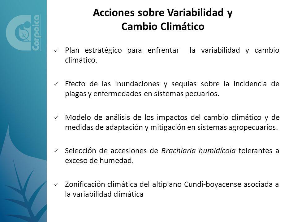 Plan estratégico para enfrentar la variabilidad y cambio climático. Efecto de las inundaciones y sequias sobre la incidencia de plagas y enfermedades