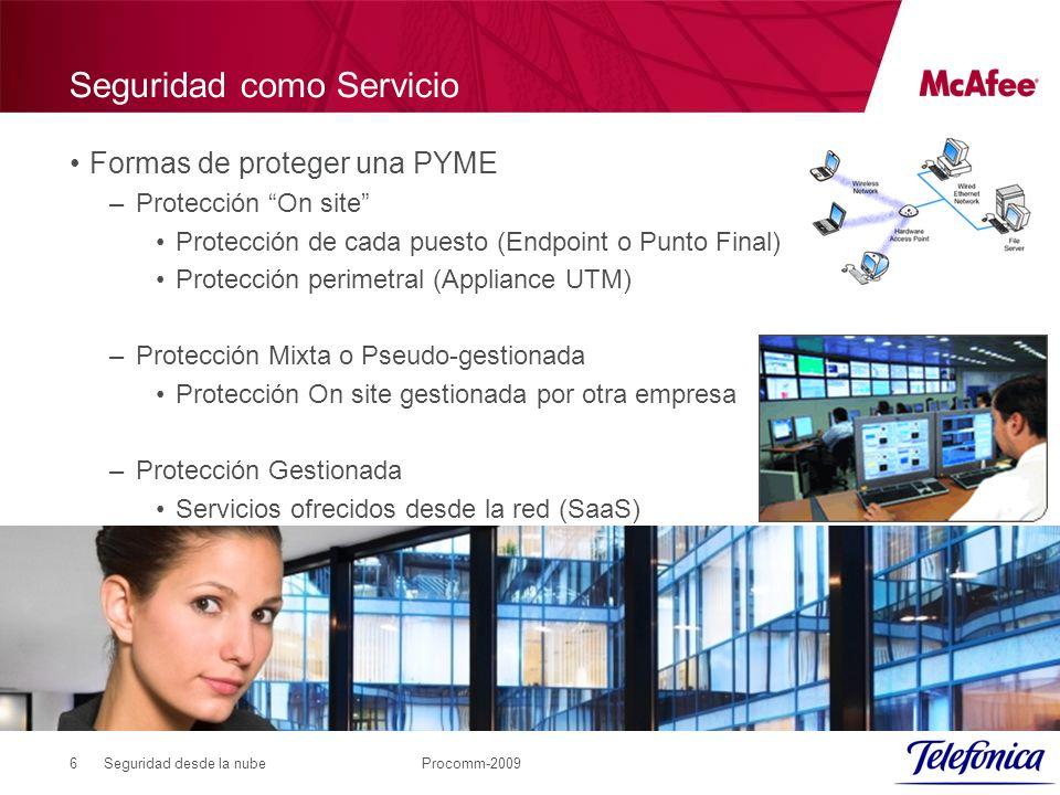 Seguridad desde la nubeProcomm-20097 Seguridad como Servicio Tendencia del mercado