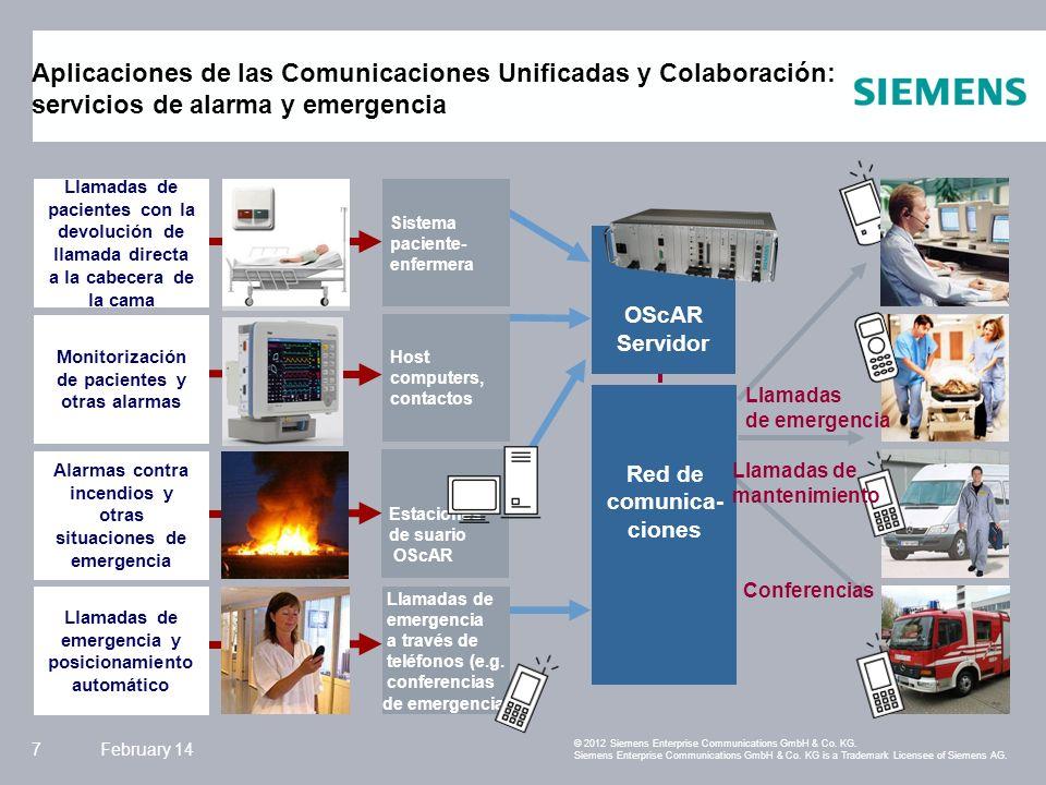 Siemens Enterprise Communications February 148 © 2012 Siemens Enterprise Communications GmbH & Co.