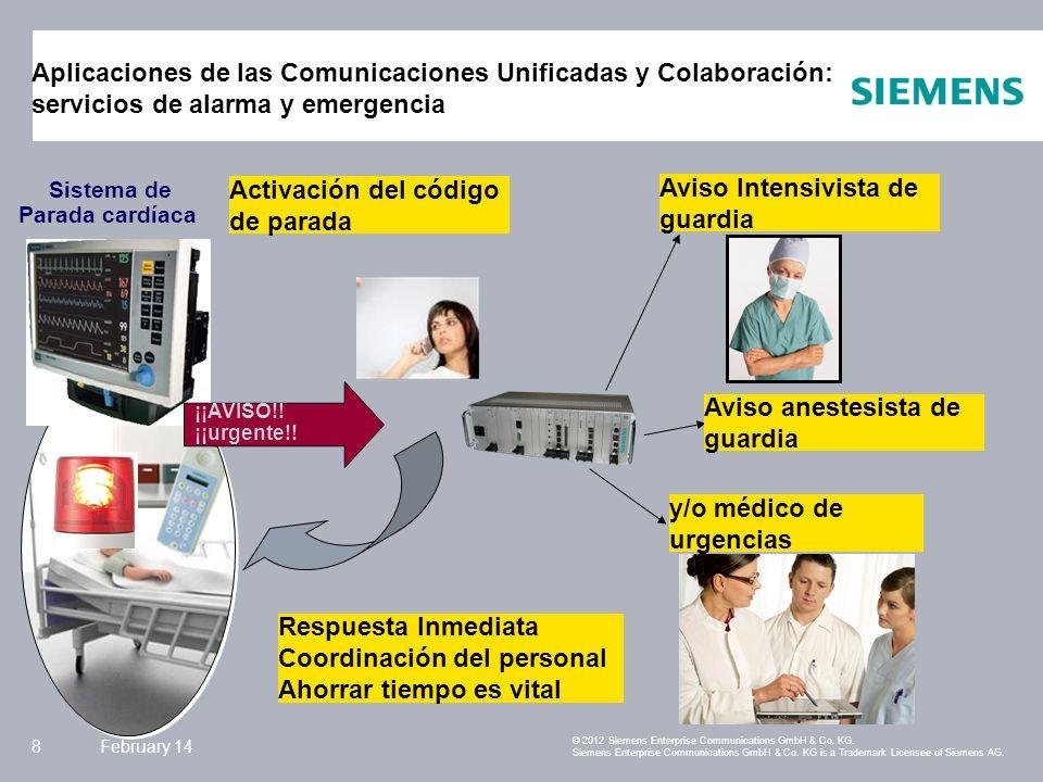 Siemens Enterprise Communications February 149 Comunicaciones unificadas y colaboración © 2011 Siemens Enterprise Communications GmbH & Co.