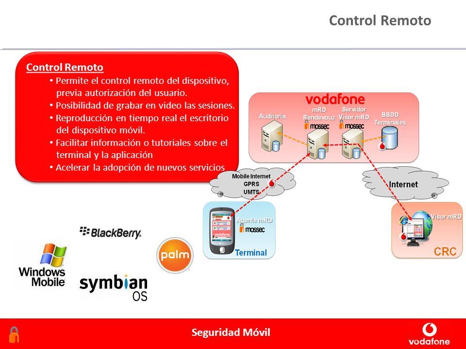 Febrero 2006 Seguridad Móvil Control Remoto Permite el control remoto del dispositivo, previa autorización del usuario. Posibilidad de grabar en video