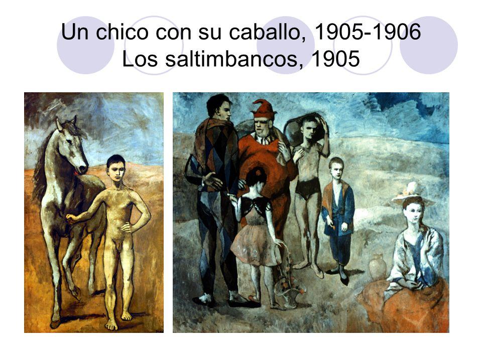 Un chico con su caballo, 1905-1906 Los saltimbancos, 1905