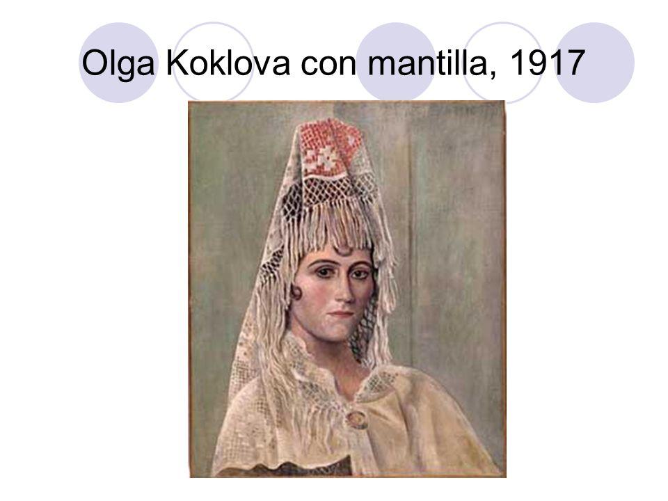 Olga Koklova con mantilla, 1917