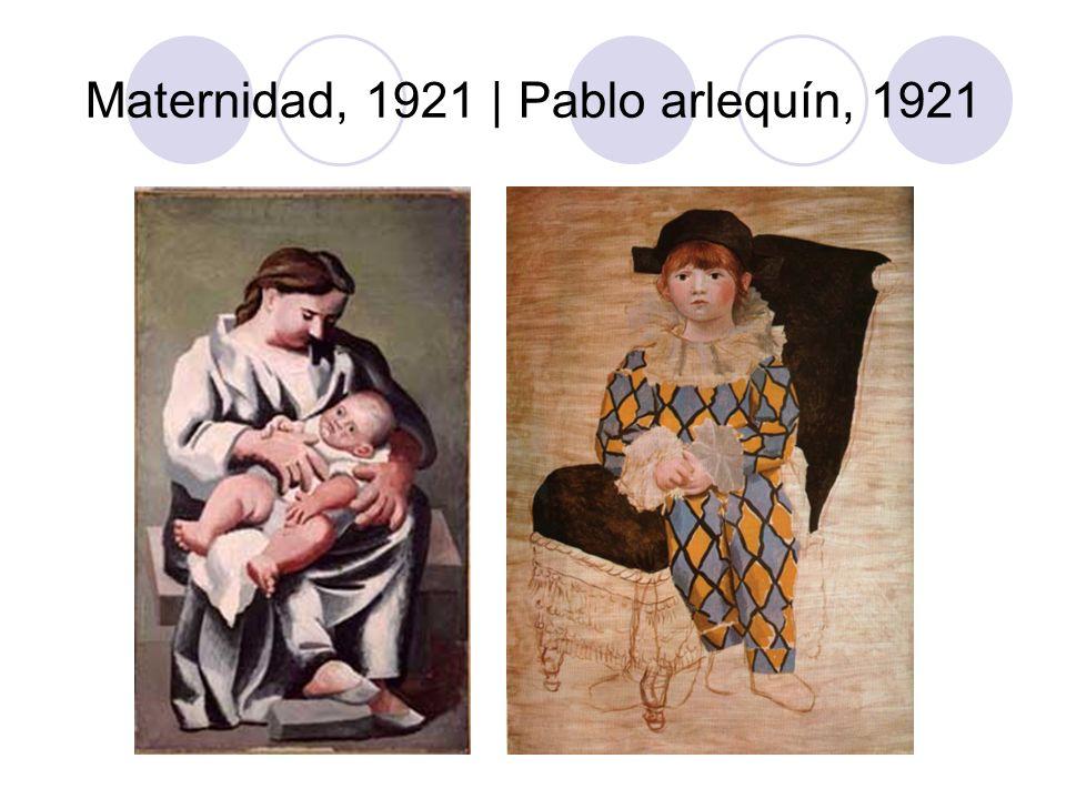 Maternidad, 1921 | Pablo arlequín, 1921