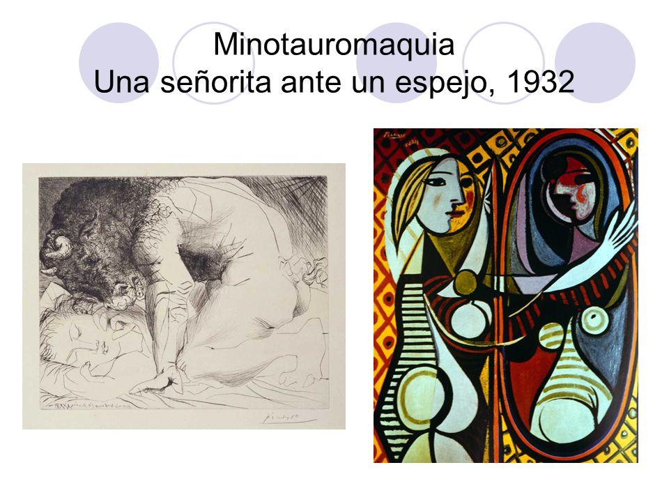 Minotauromaquia Una señorita ante un espejo, 1932