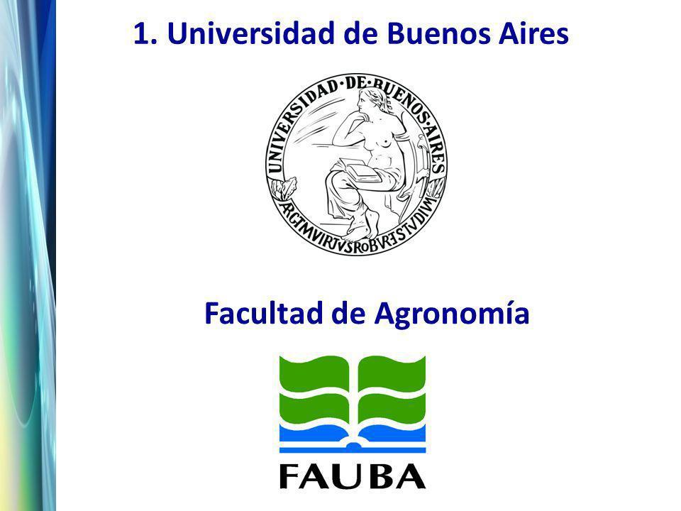 1. Universidad de Buenos Aires Facultad de Agronomía