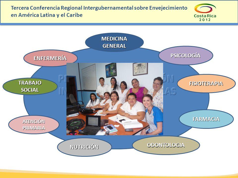 Tercera Conferencia Regional Intergubernamental sobre Envejecimiento en América Latina y el Caribe ENFERMERÍA PSICOLOGÍA MEDICINA GENERAL ATENCIÓN PRI