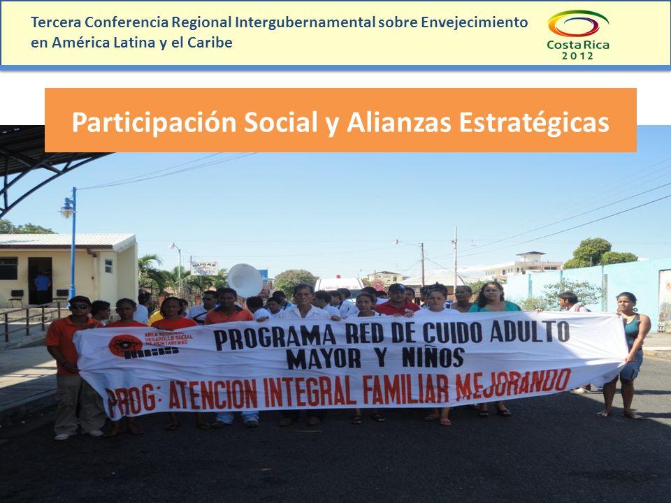 Tercera Conferencia Regional Intergubernamental sobre Envejecimiento en América Latina y el Caribe Participación Social y Alianzas Estratégicas
