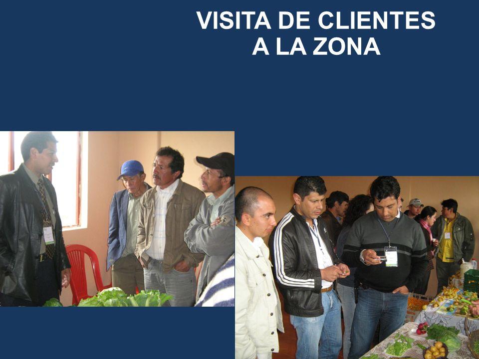 VISITA DE CLIENTES A LA ZONA
