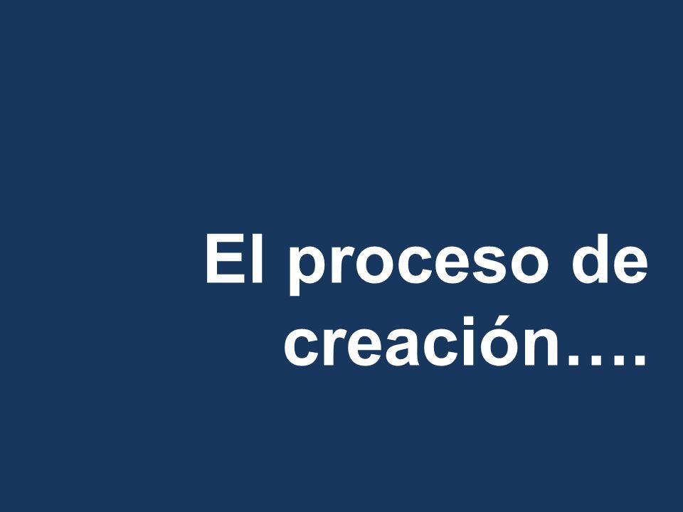 El proceso de creación….