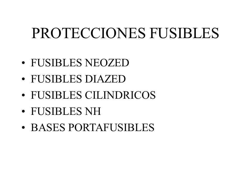 PROTECCIONES FUSIBLES FUSIBLES NEOZED FUSIBLES DIAZED FUSIBLES CILINDRICOS FUSIBLES NH BASES PORTAFUSIBLES