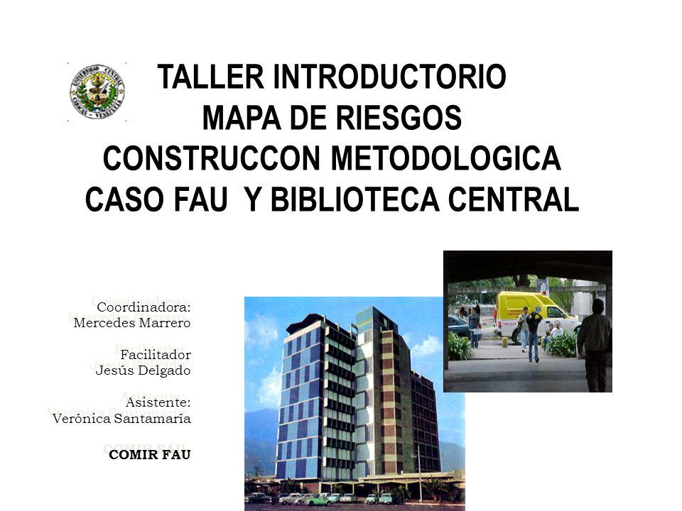 Coordinadora: Mercedes Marrero Facilitador Jesús Delgado Asistente: Verónica Santamaría COMIR FAU Coordinadora: Mercedes Marrero Facilitador Jesús Del