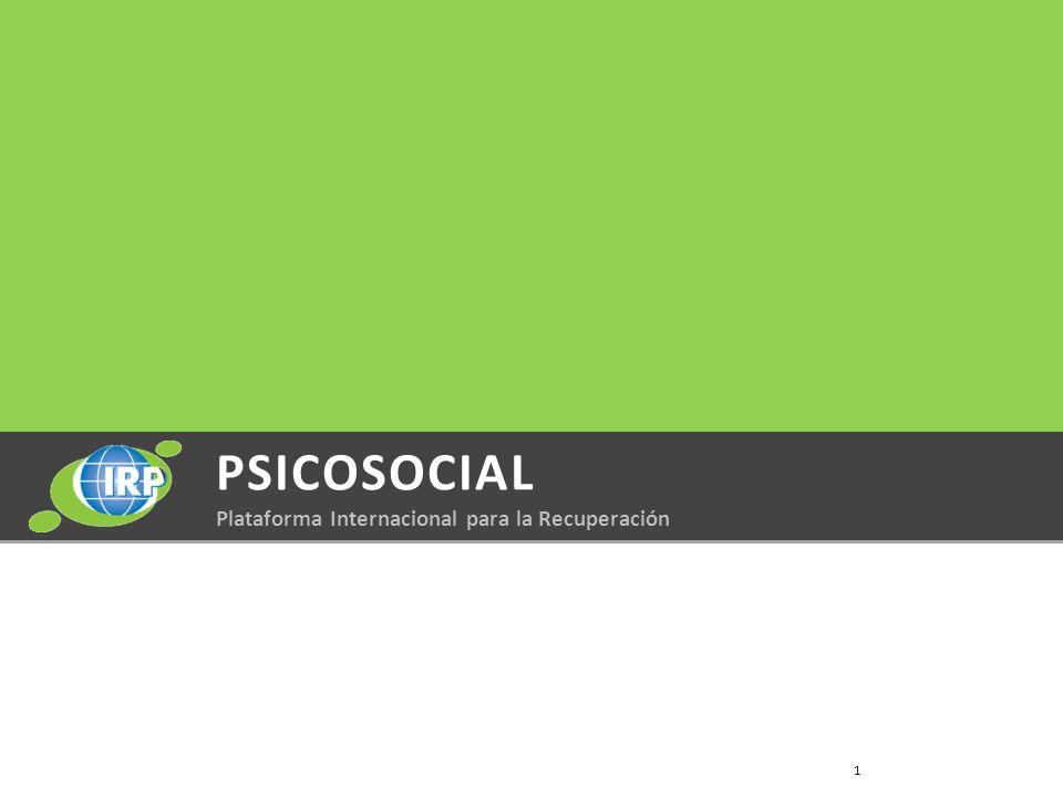 PSICOSOCIAL Plataforma Internacional para la Recuperación 1