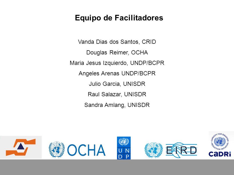 Propósito del taller Promover un entendimiento en común de la naturaleza, el alcance y la importancia de la reducción del riesgo de desastres (RRD) en el contexto del desarrollo y de una perspectiva nacional / federal.