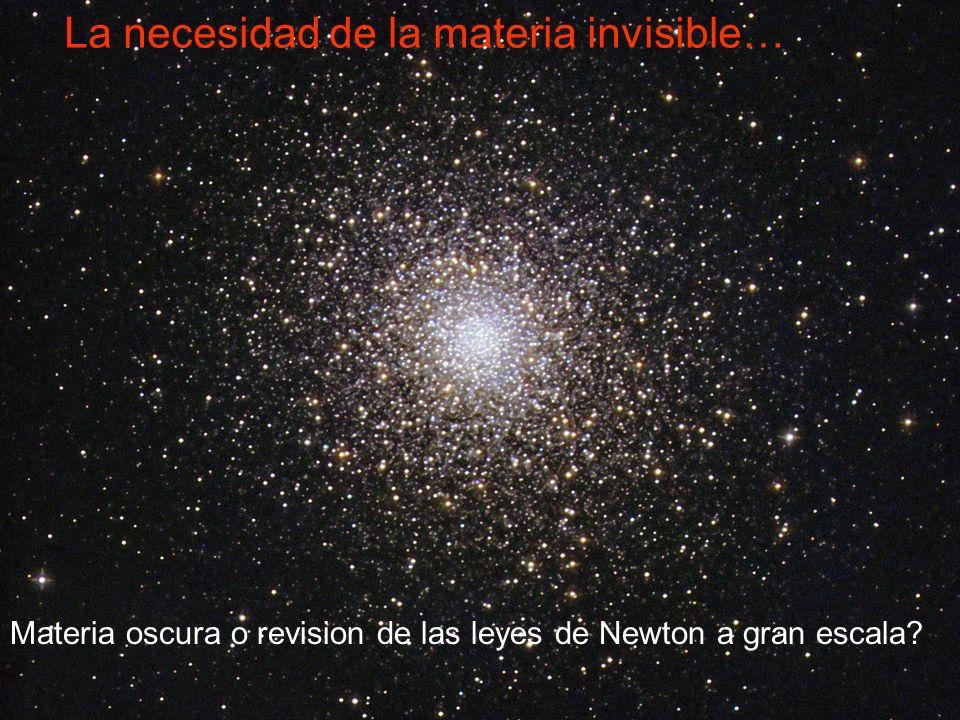 Materia oscura? T. Mond, o ambos? MOND: Ley de inercia Ley de gravitacion F.Zwicky