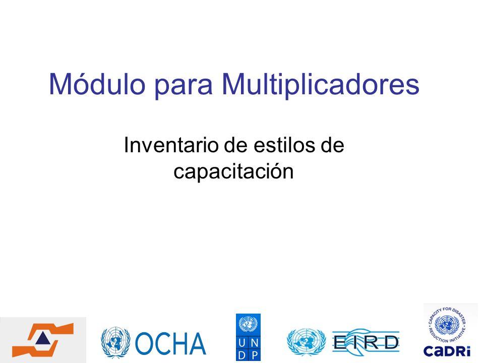 Módulo para Multiplicadores Inventario de estilos de capacitación