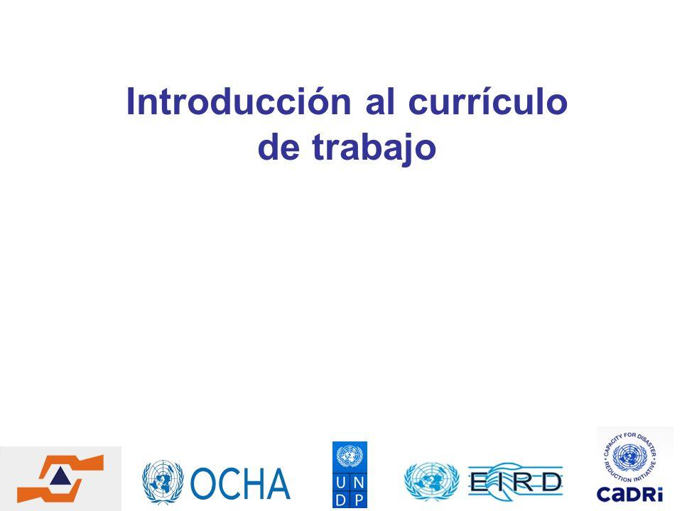 Introducción al currículo de trabajo