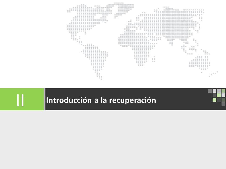 International Recovery Platform 13 Introducción a la recuperación II