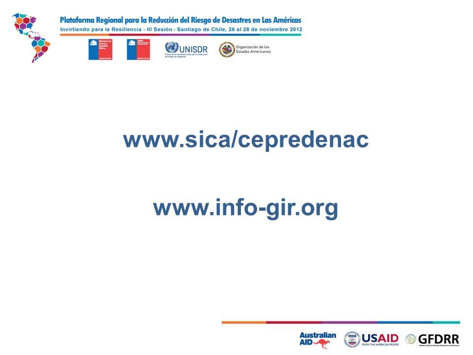 7 www.sica/cepredenac www.info-gir.org