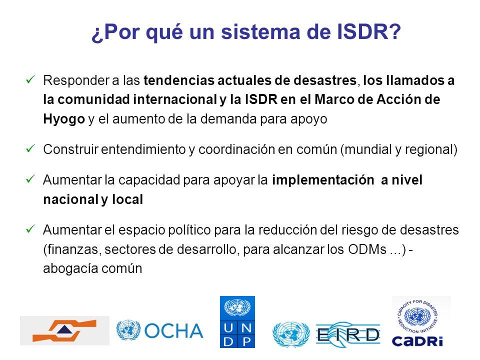 ¿Por qué un sistema de ISDR? Responder a las tendencias actuales de desastres, los llamados a la comunidad internacional y la ISDR en el Marco de Acci