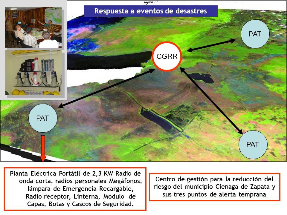 Otras funciones Documentar gráficamente y conservar las acciones de reducción de desastres que se realicen en el territorio, así como el impacto de cualquier evento.