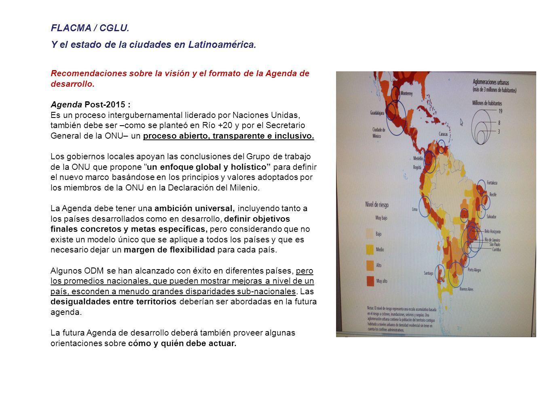 FLACMA / CGLU. Y el estado de la ciudades en Latinoamérica.