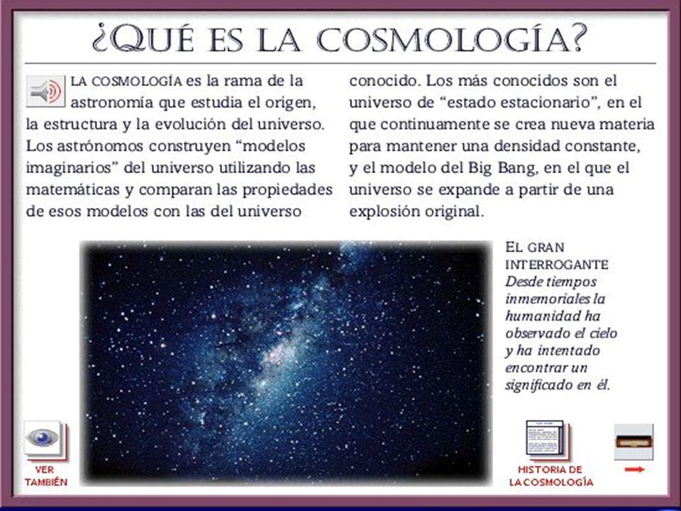 Historia del Universo Época de recombinación: Recombinación de electrones y protones, desacoplamiento de fotones, formación de estructuras pregalácticas Núcleosíntesis primordial Universo dominado por materia