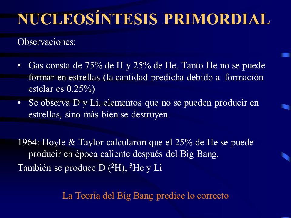 T CMB = T o (1+z). La Teoría de Big Bang predice que la temperatura de fondo cósmico es una función lineal del redshift z, de acuerdo con la siguiente
